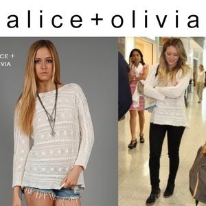 Hayden Cable Knit Linen Sweater ASO Hilary Duff